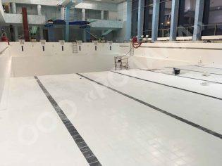 ремонт плитки, затирка швов бассейна, ремонт бассейна