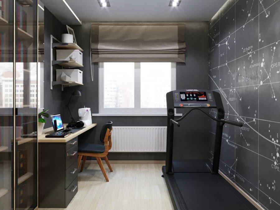 Дизайн проект квартиры - кабинет