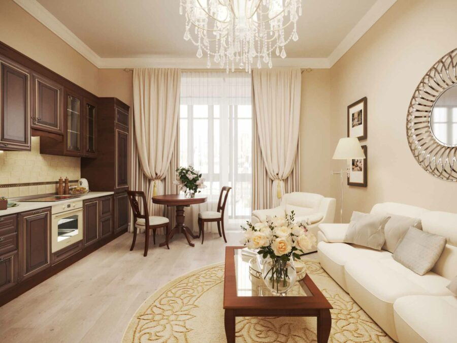 Дизайн проект квартиры ЖК Ривьера - кухня