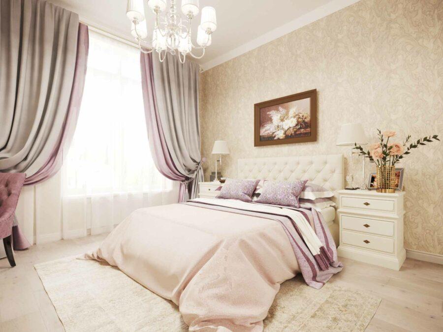 Дизайн проект квартиры ЖК Ривьера - спальня