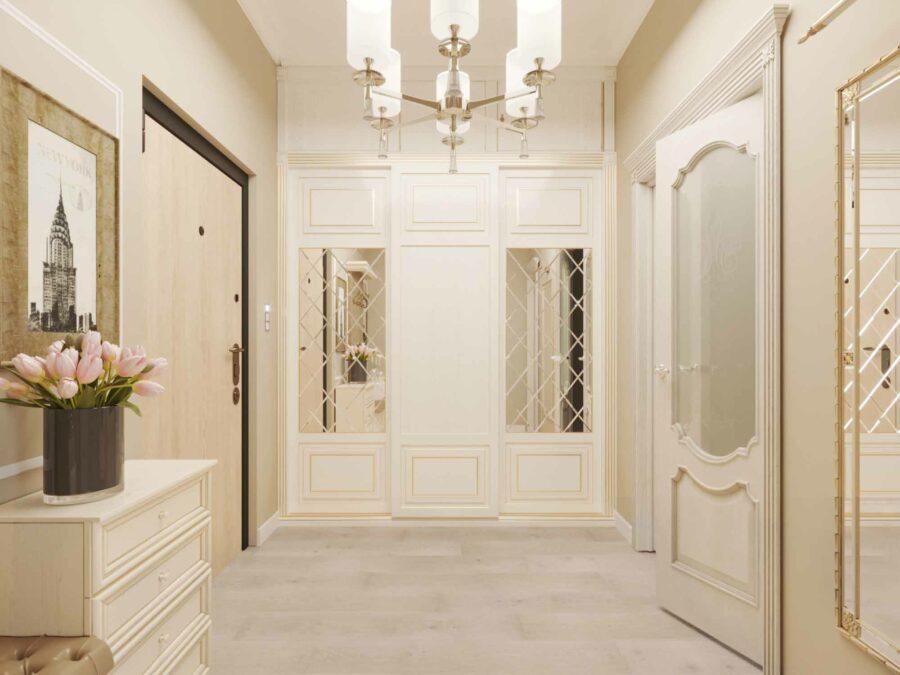 Дизайн проект квартиры ЖК Ривьера - прихожая